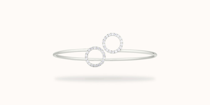Bracelet O2 - Or blanc 18K (5,00 g), diamants 0,36 carat - Courbet