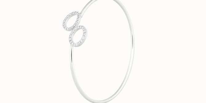 Bracelet O2 - Or blanc 18K (5,00 g), diamants 0,36 cts - Côté - Courbet