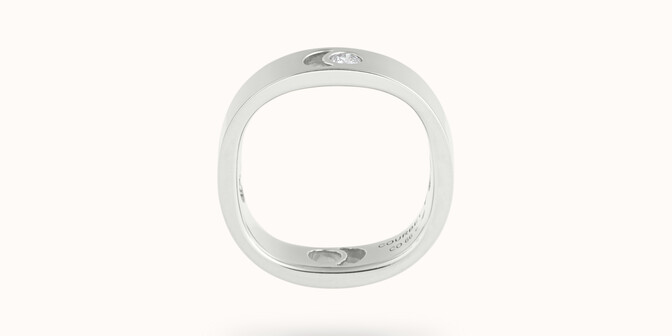 Bague Eclipse grand modèle - Or blanc 18K (7,80 g), diamant 0,10 ct - Profil