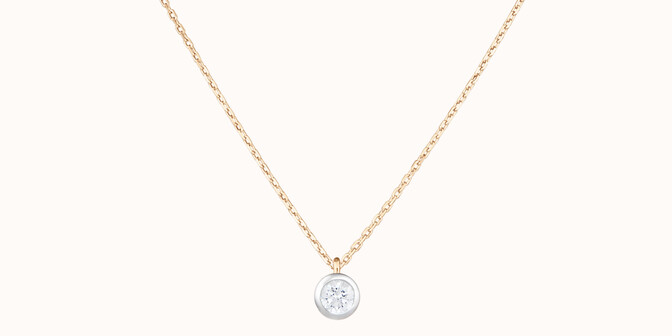 Collier Origine - Or jaune 18K (1,70 g), diamant 0,10 ct