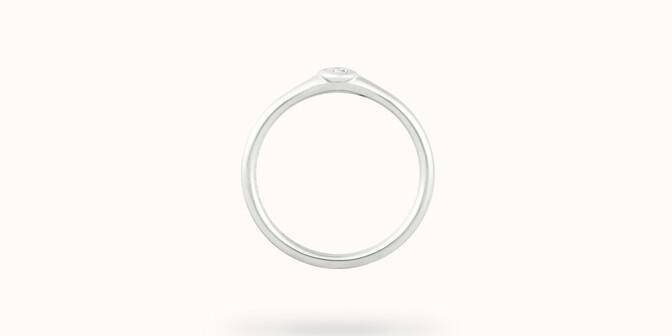 Bague Origine - Or blanc 18K (2,60 g), diamant 0,10 ct - Profil