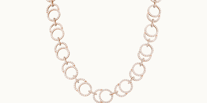 Collier Céleste en or rose 18K - Courbet