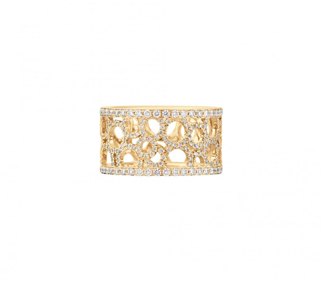 Bague Constellation - Or jaune 18K (7,35 g) - diamants 1,70 carats - Face