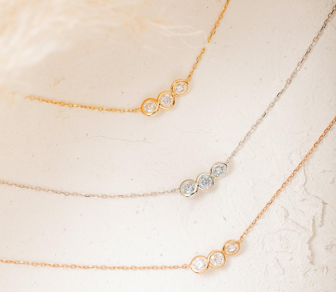 Collier Or Blanc et Diamants de synthèse 0,3 ct - 2 Courbet - Courbet - Vue 5