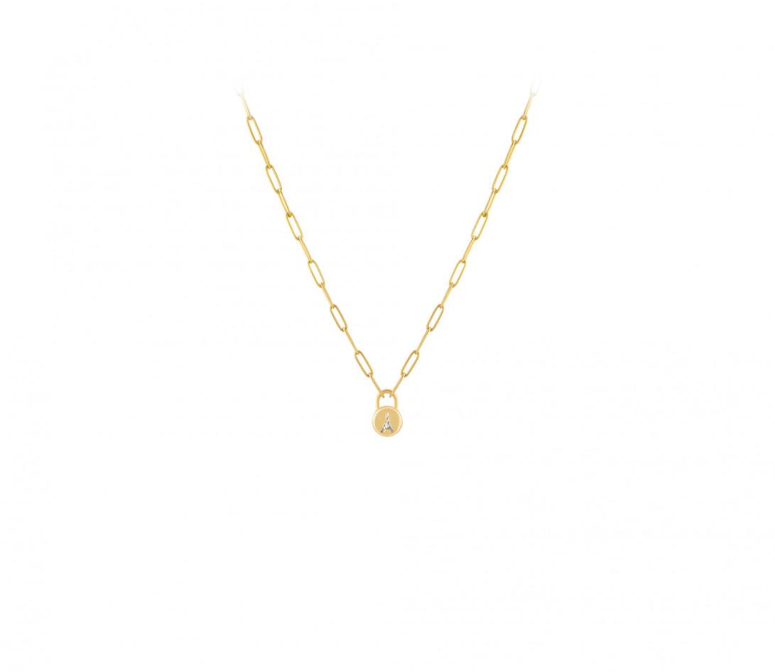 Collier Pont des Arts - Or jaune 18K (5,80 g), diamant 1,34 ct - Vue 2
