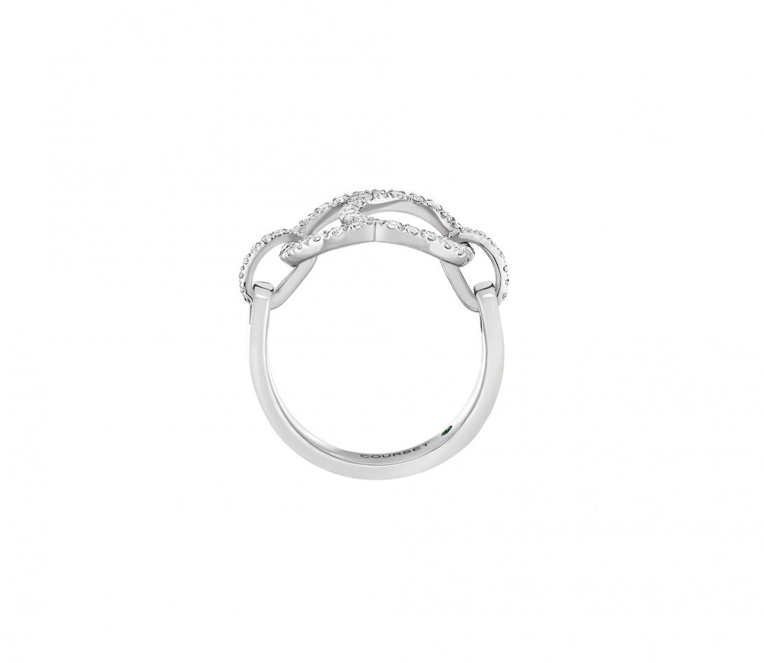 Bague Celeste - Or blanc 18K (5,20 g), diamants 0,50 ct - Vue 3