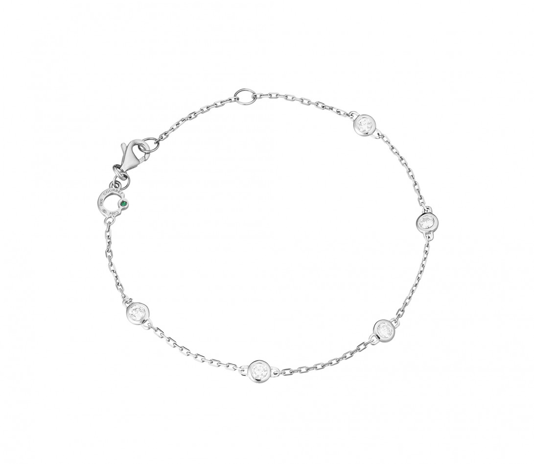 Bracelet Origine - Or blanc 18K (2,20 g), diamants 0,5 cts - Rond