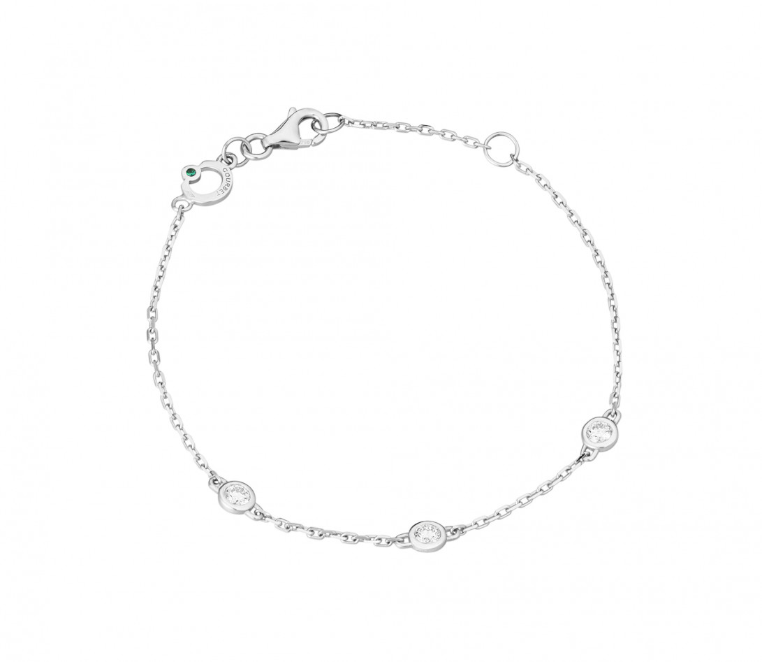 Bracelet Origine - Or blanc 18K (1,90 g), diamants 0,3 ct - Rond