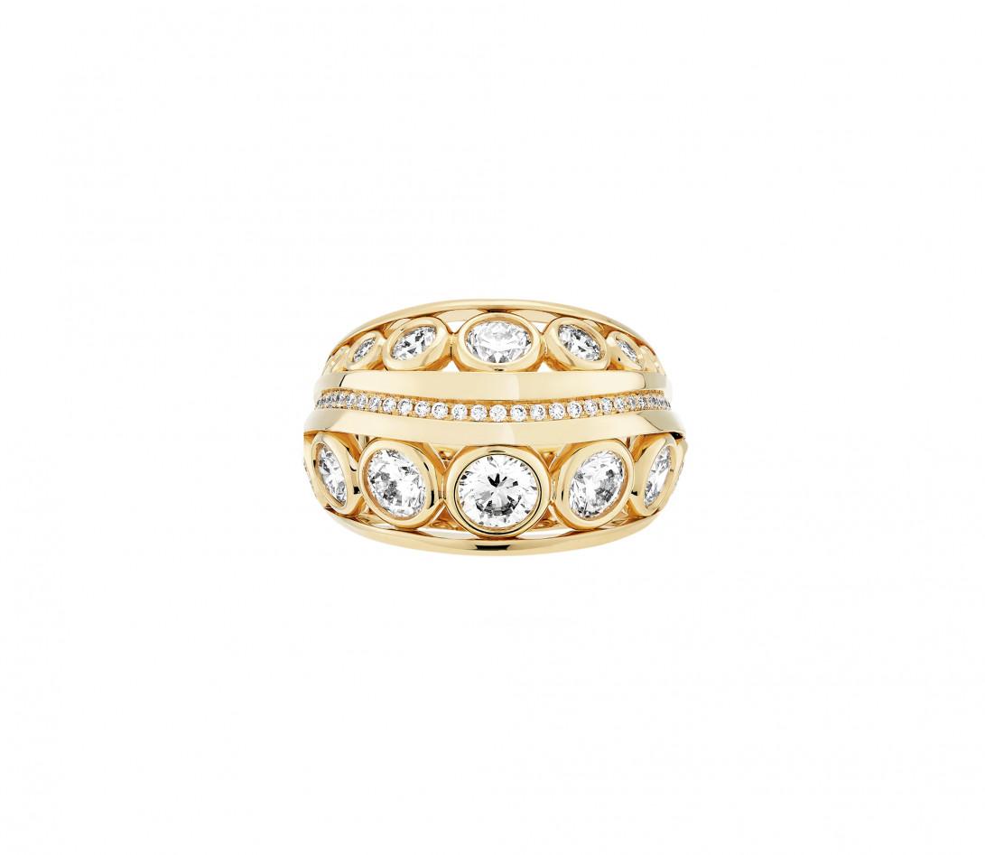 Bague ORIGINE Couture en or jaune recyclé 18K et diamants de synthèse - Vue 2
