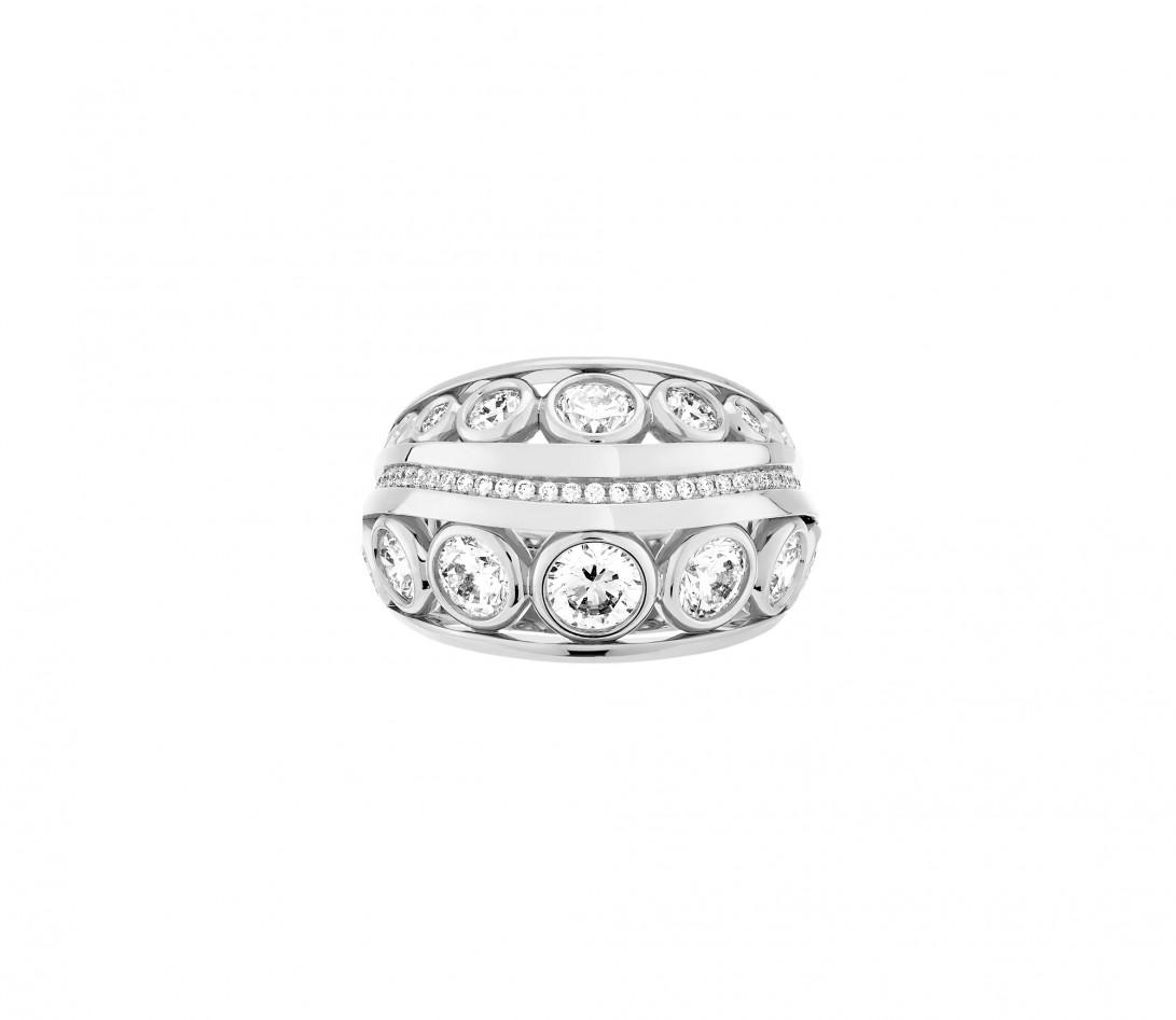 Bague ORIGINE Couture en or blanc 18K recyclé et diamants de synthèse - Courbet - Vue 2