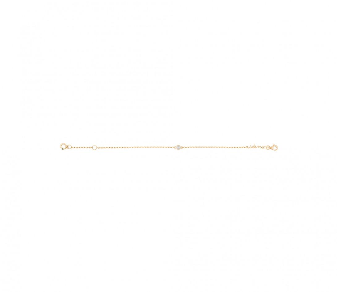 Bracelet chaîne ORIGINE 1 motif serti personnalisé en or jaune 18K - Courbet - Vue 6