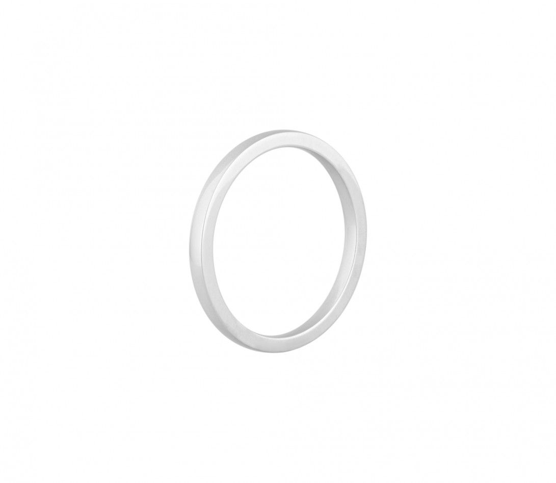 Alliance (2,3 mm) - Or blanc 18K (3,50 g) - Profil