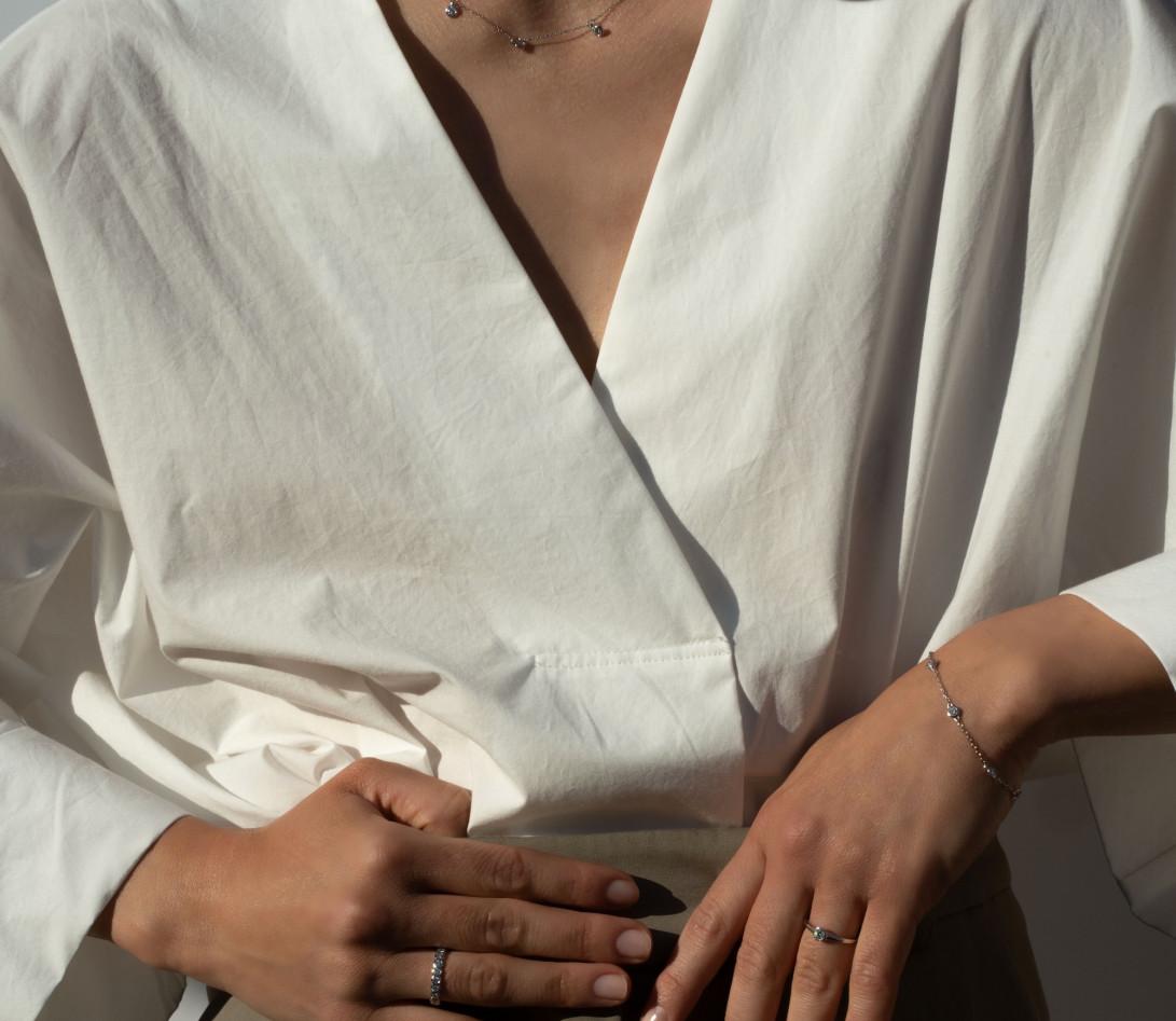 Bracelet Origine - Or blanc 18K (2,20 g), diamants 0,5 cts - Vue 5