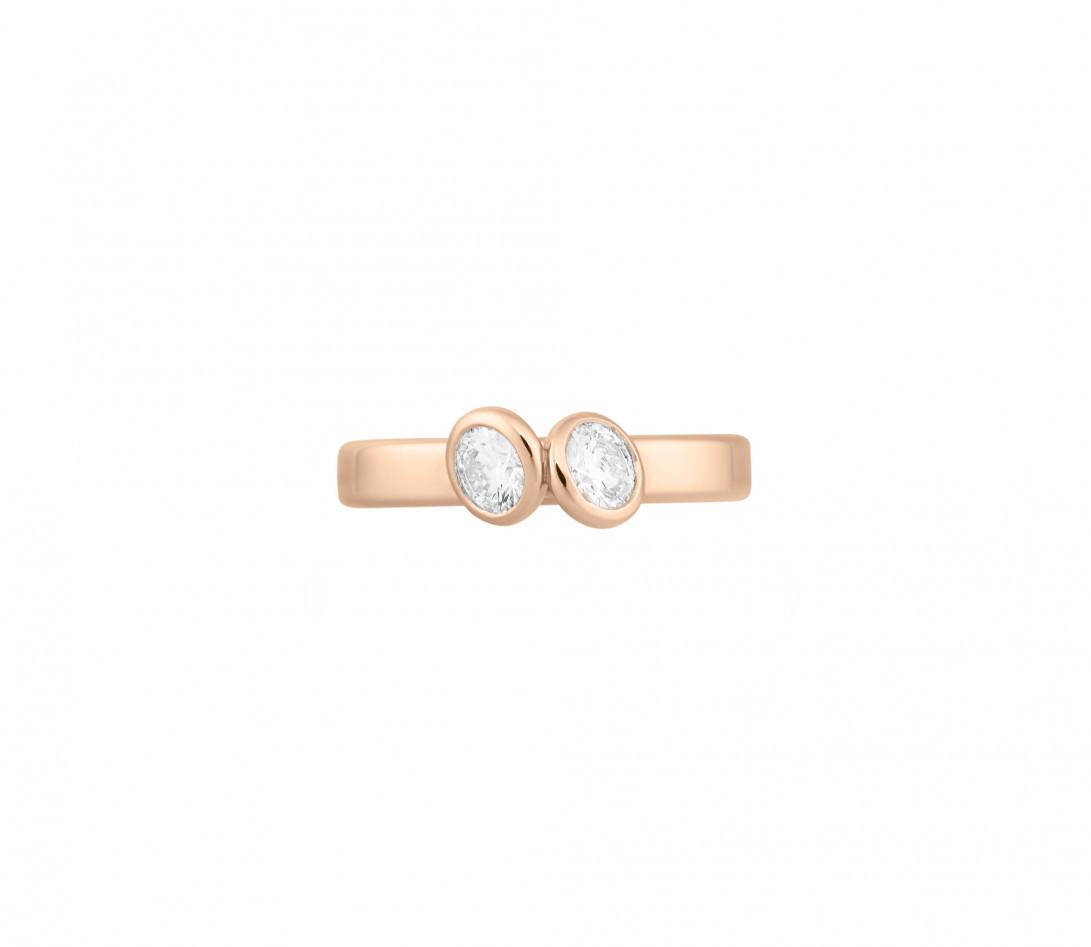 Bague 2 Courbet - Or rose 18K (3,50 g),  diamant 1 carat - Vue 3