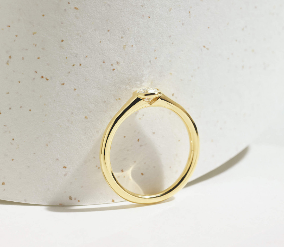 Bague Origine - Or jaune 18K (2,60 g), diamant 0,10 ct - Vue 7