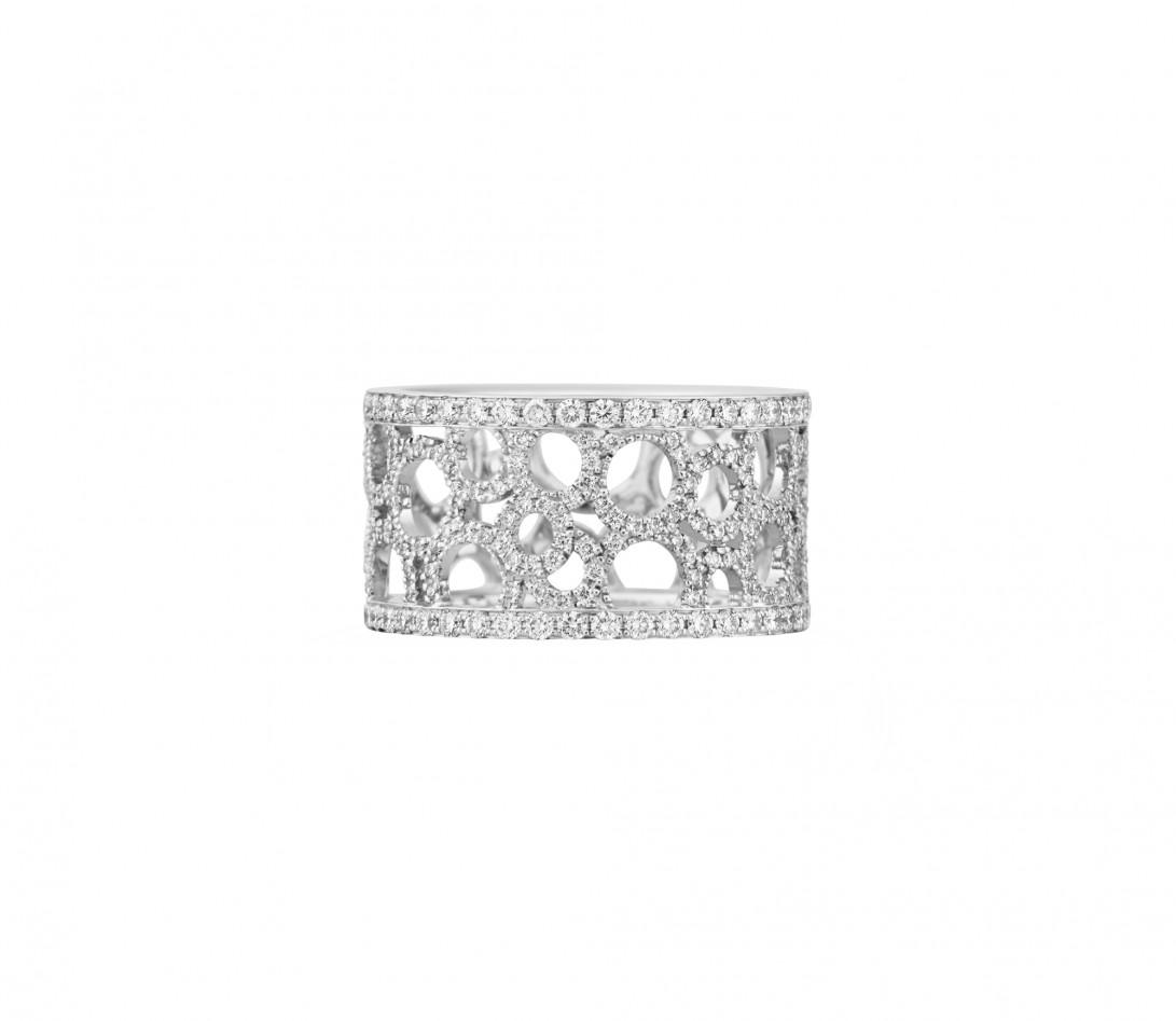 Bague Constellation - Or blanc 18K (7,35 g) - diamants 1,70 carats - Face