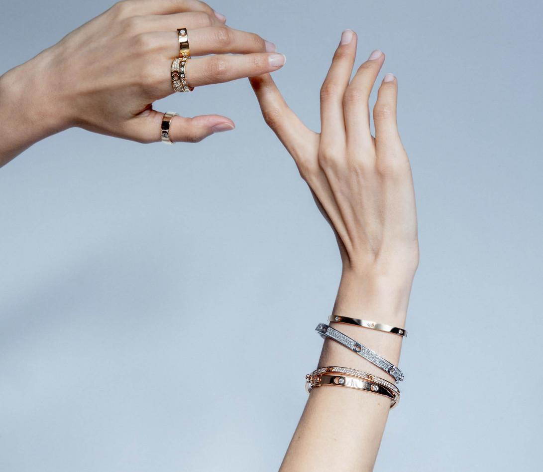 Bague Or Jaune et Diamants de synthèse 0,67 ct - Eclipse - Vue 5