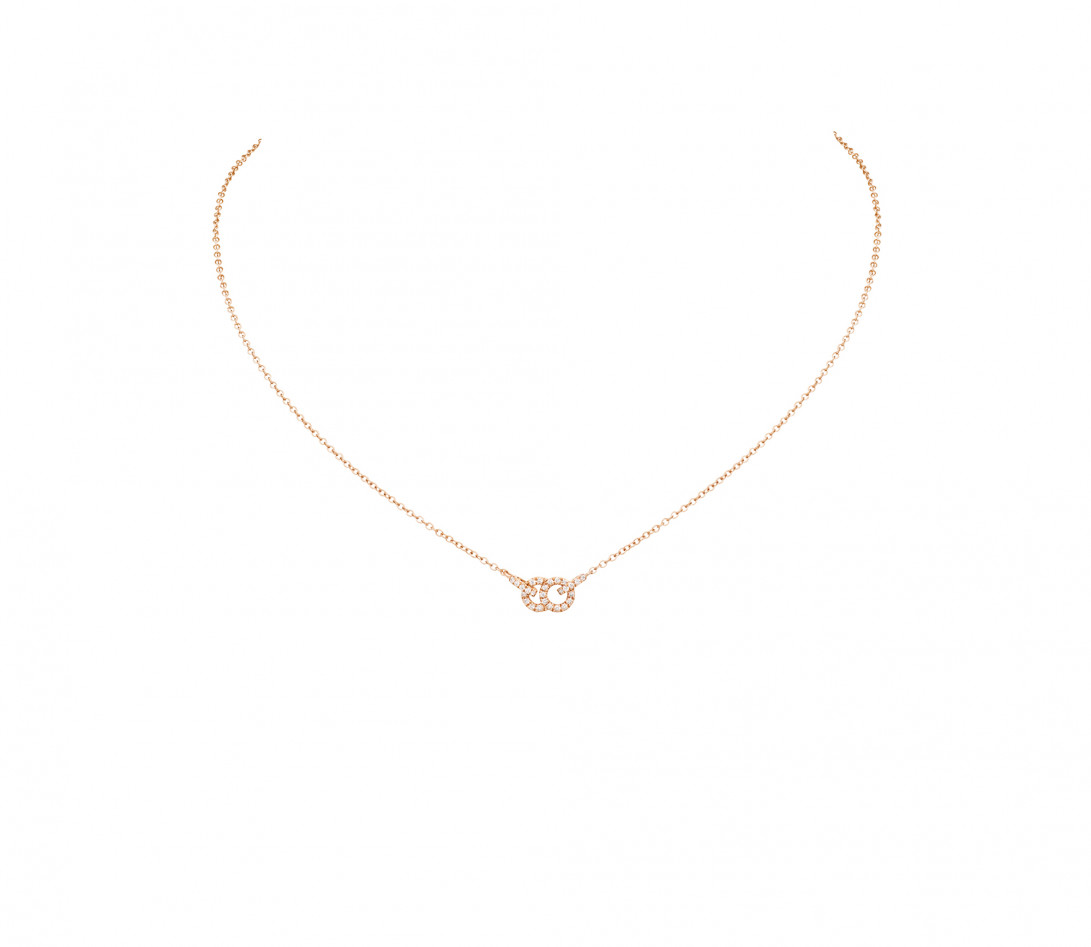 Collier pendentif CELESTE PM en or rose - Courbet - Vue 1