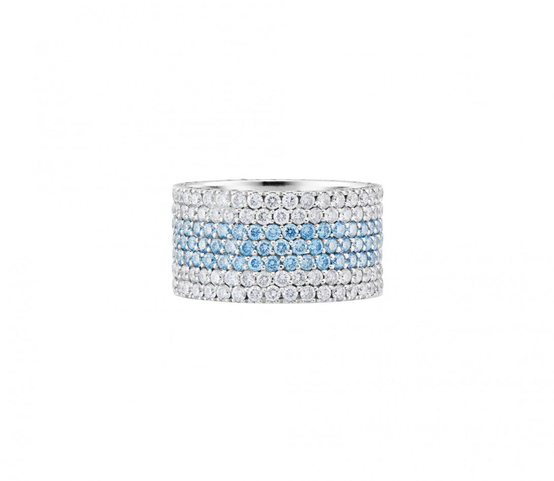 Bague Or Blanc et Diamants de synthèse 4,25 cts - Horizon - Courbet - Vue 3
