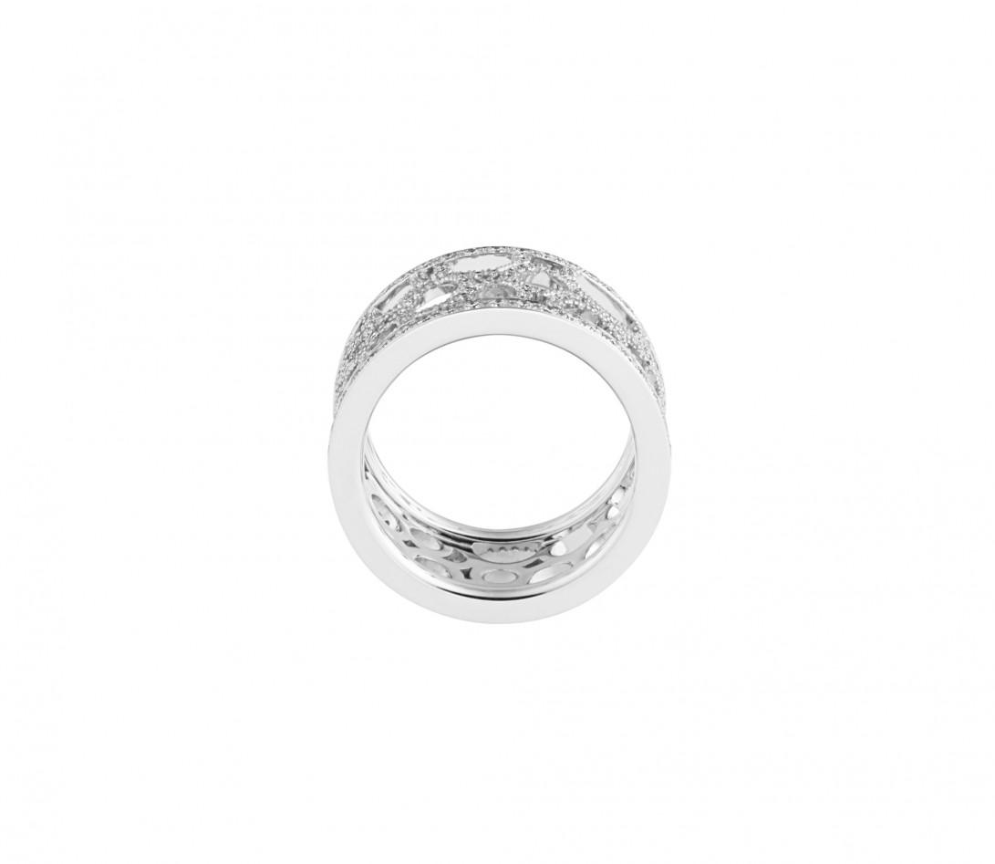 Bague Constellation - Or blanc 18K (7,35 g) - diamants 1,70 carats - Profil