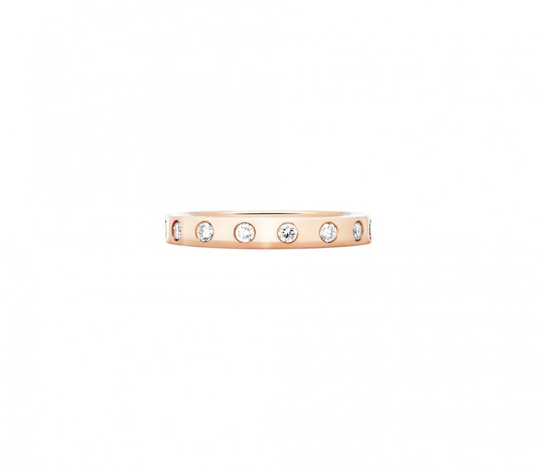 Bague Or Rose et Diamants de synthèse 0,67 ct - Eclipse - Vue 1