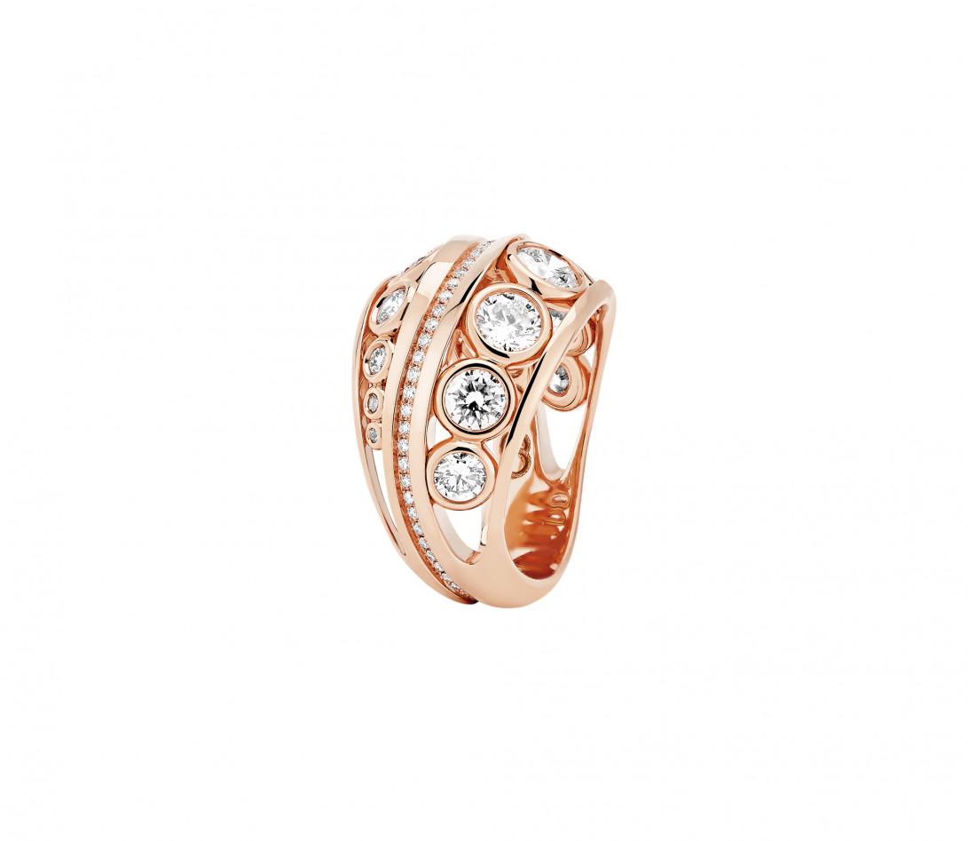 Bague ORIGINE Couture en or rose recyclé 18K et diamants de synthèse - Vue 1