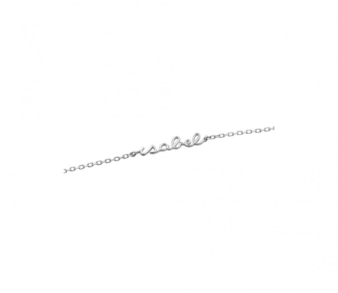 Collier ORIGINE personnalisé en or blanc 18K et diamants de synthèse - Courbet - Vue 3