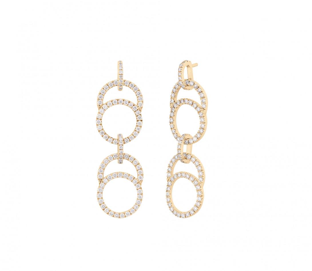 Boucles d'oreilles Céleste en or jaune - Courbet - Vue 1