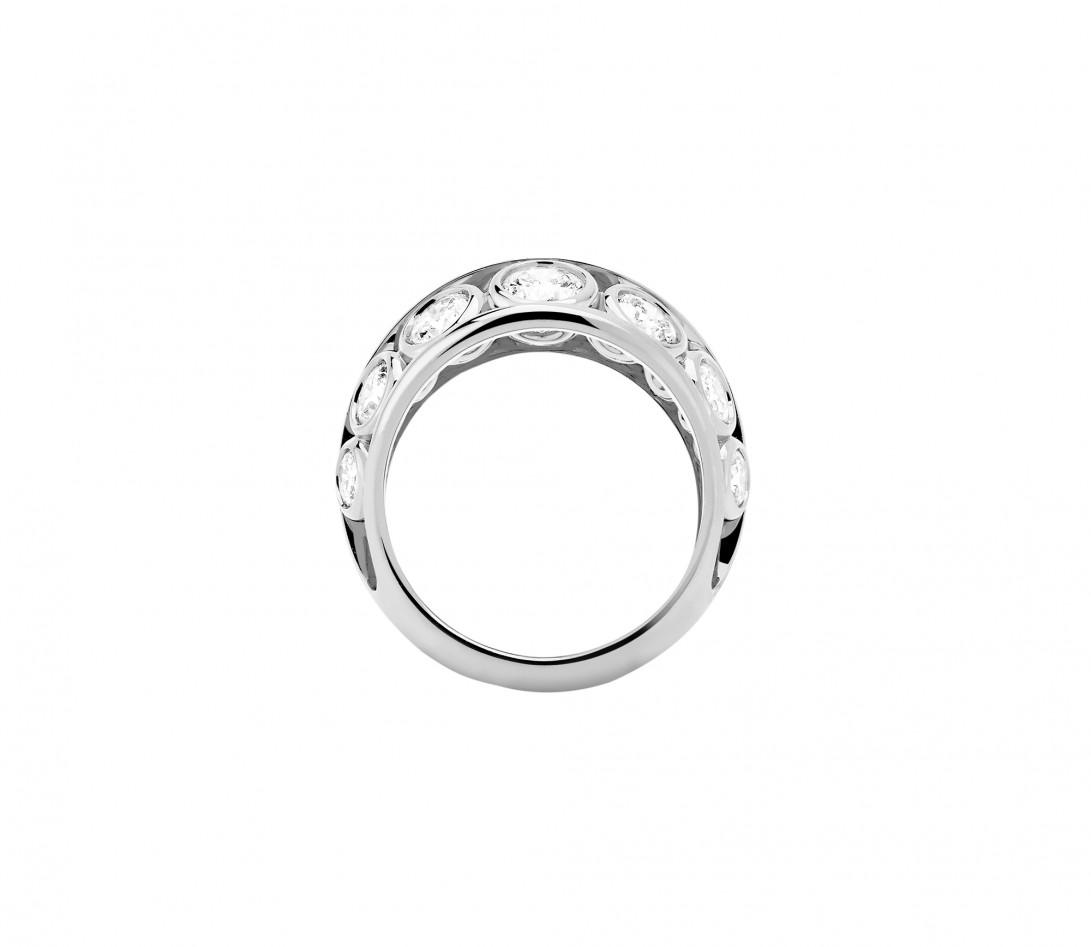 Bague ORIGINE Couture en or blanc 18K recyclé et diamants de synthèse - Courbet - Vue 3
