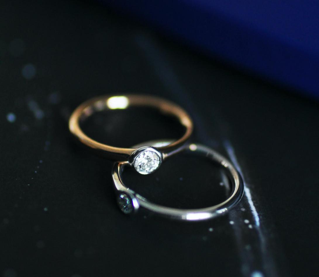Bague Origine - Or jaune 18K (2,60 g), diamant 0,10 ct - Vue 8