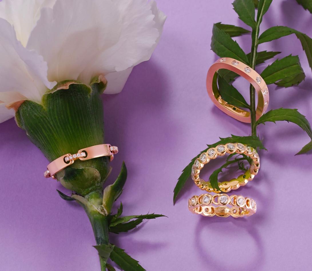 Bague Or Rose et Diamants de synthèse 0,67 ct - Eclipse - Vue 5