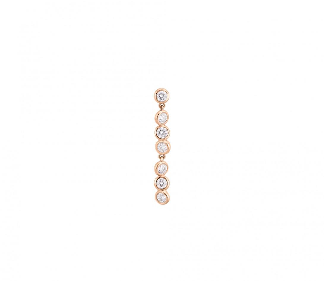 Boucles d'oreilles 2 COURBET en or rose - Courbet - Vue 2