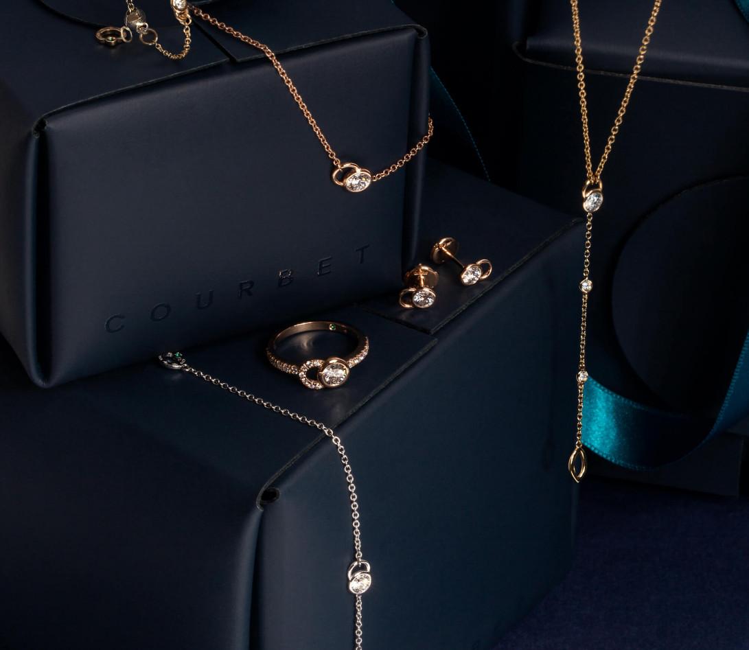Bracelet CO - Or rose 18K (1,50 g), diamants 0,1 cts - Vue 4