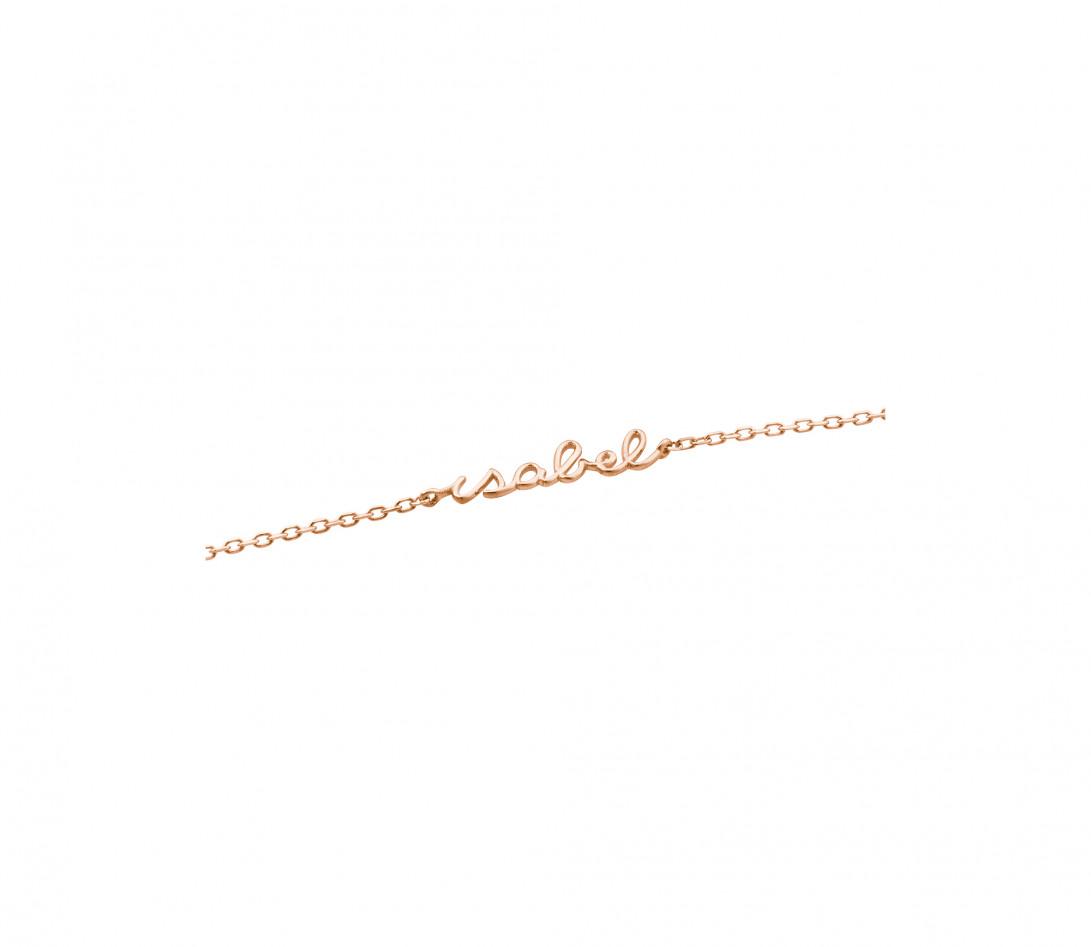 Collier ORIGINE personnalisé en or rose 18K et diamants de synthèse - Courbet - Vue 3