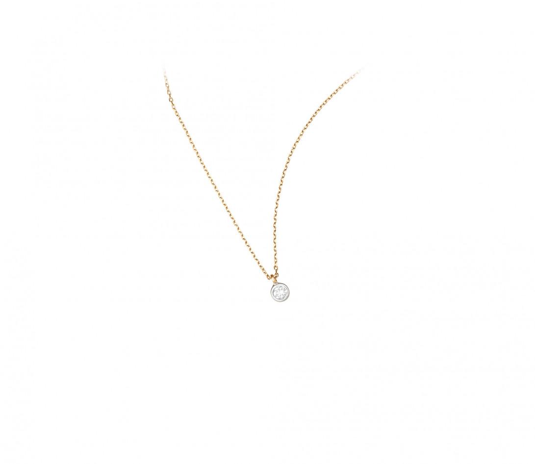 Collier Origine - Or jaune 18K (1,70 g), diamants 0,1 cts - Vue 2