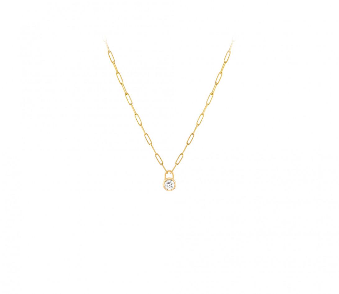 Collier Pont des Arts - Or jaune 18K (5,80 g), diamant 1,34 ct - Face