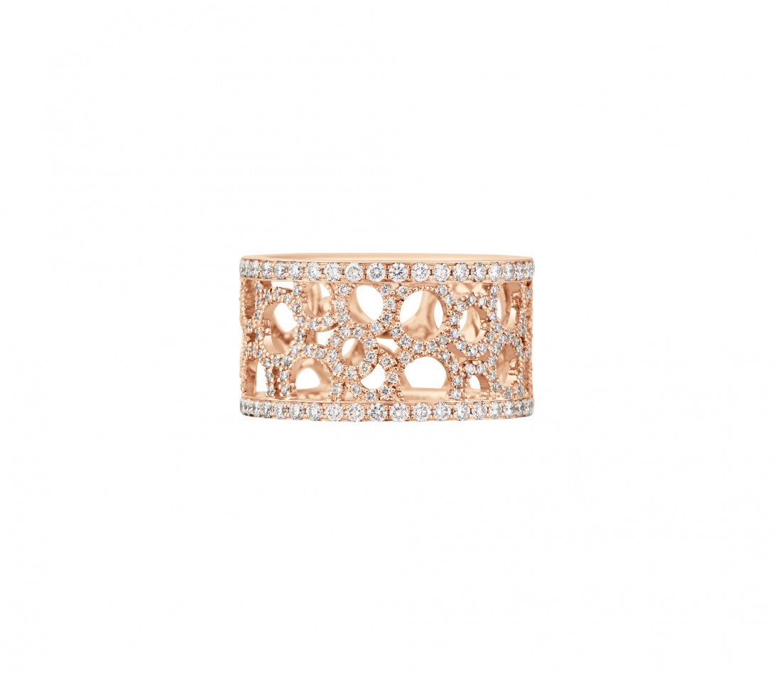 Bague Constellation - Or rose 18K (7,35 g) - diamants 1,70 carats - Vue 3