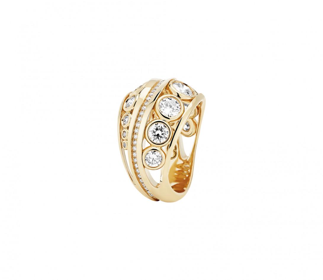 Bague ORIGINE Couture en or jaune recyclé 18K et diamants de synthèse - Vue 1