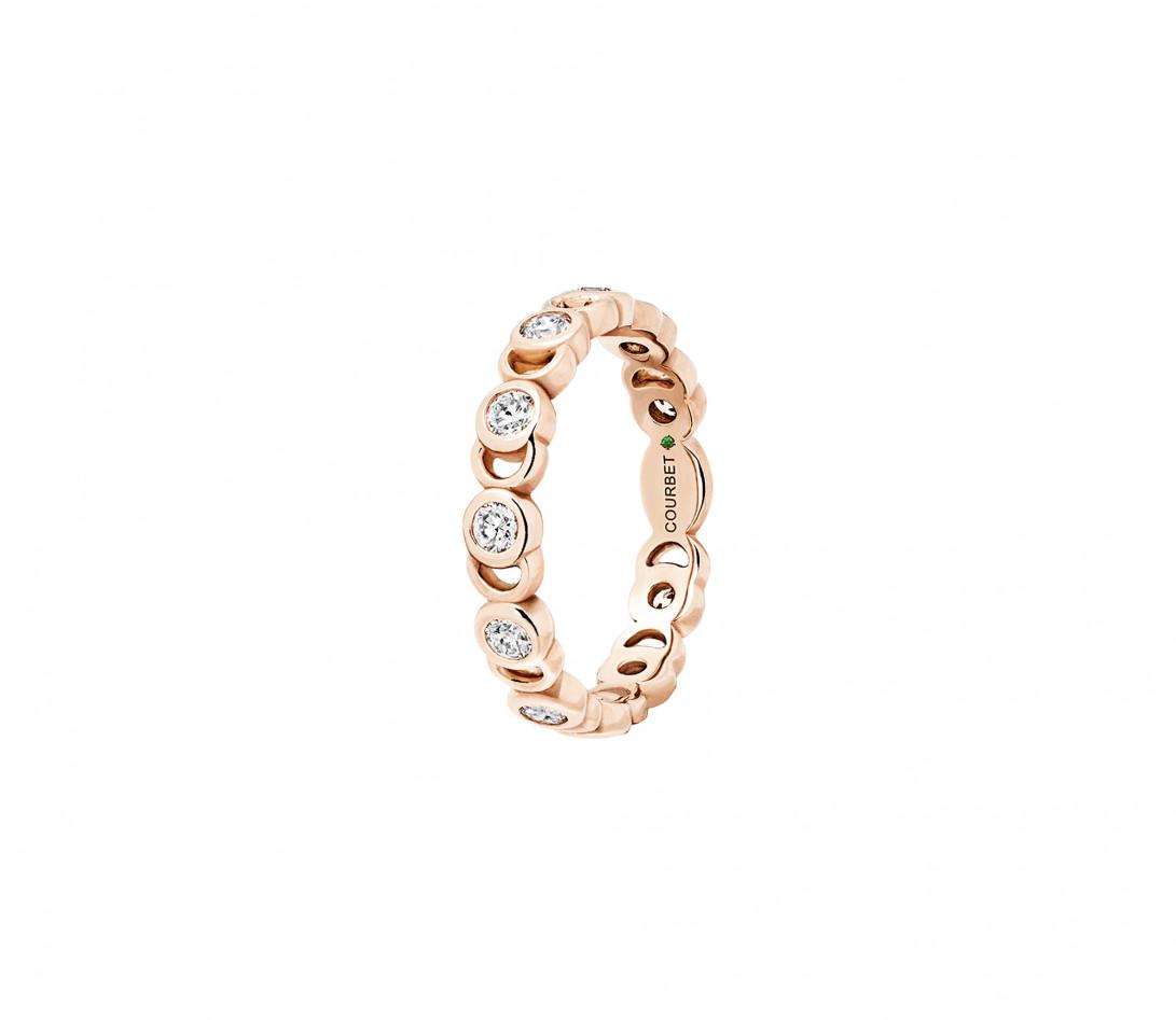 Bague Or rose et Diamants de synthèse 0,55 ct - CO - Courbet - Vue 2