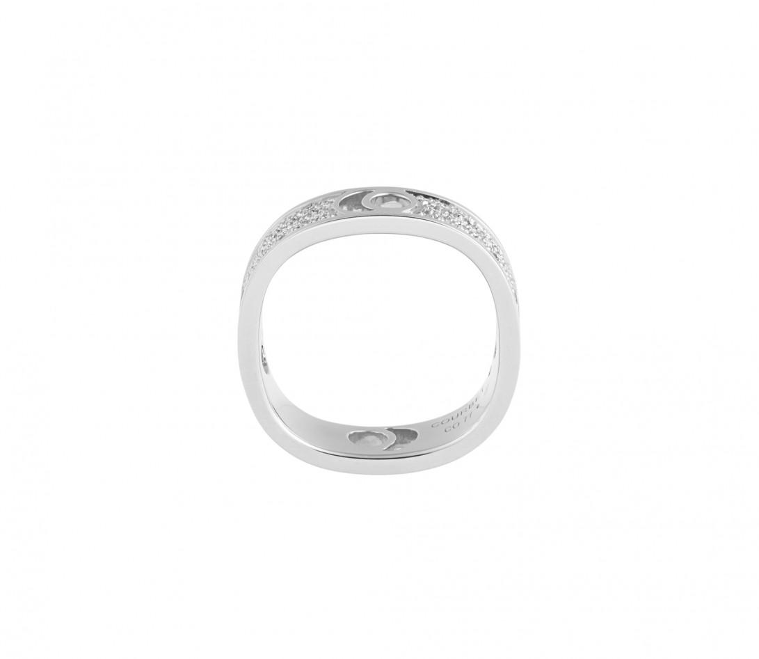 Bague Eclipse grand modèle - Or blanc 18K (7,80 g), diamants 0,70 ct - Vue 2
