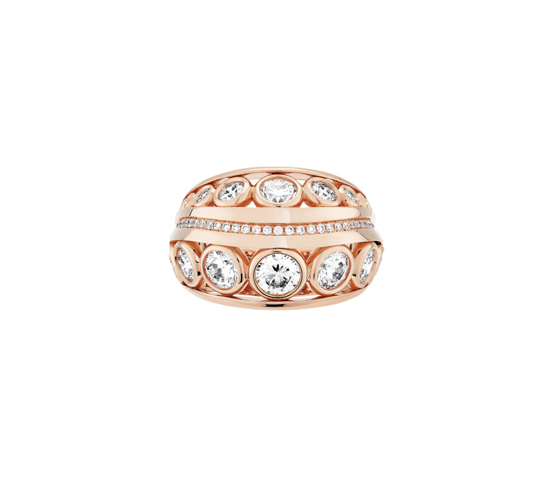 Bague ORIGINE Couture en or rose recyclé 18K et diamants de synthèse - Vue 2