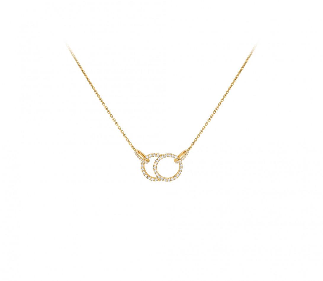 Collier Or Blanc et Diamants de synthèse 0,4 ct - Celeste - Vue 1