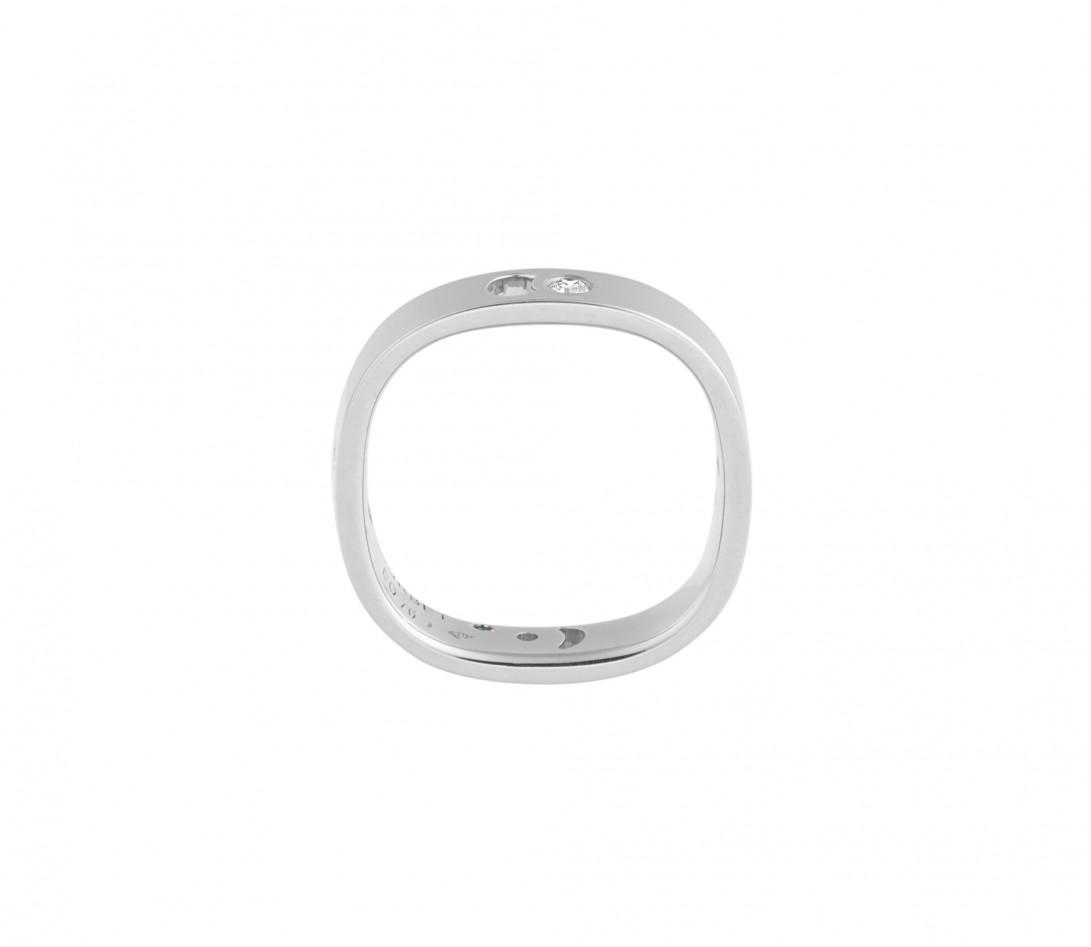 Bague Eclipse petit modèle - Or blanc 18K (4,20 g), 4 diamants 0,12 ct - Vue 2