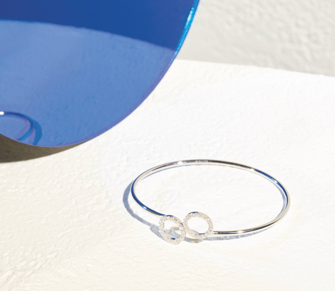 Bracelet O2 - Or blanc 18K (5,00 g), diamants 0,36 cts - Vue4