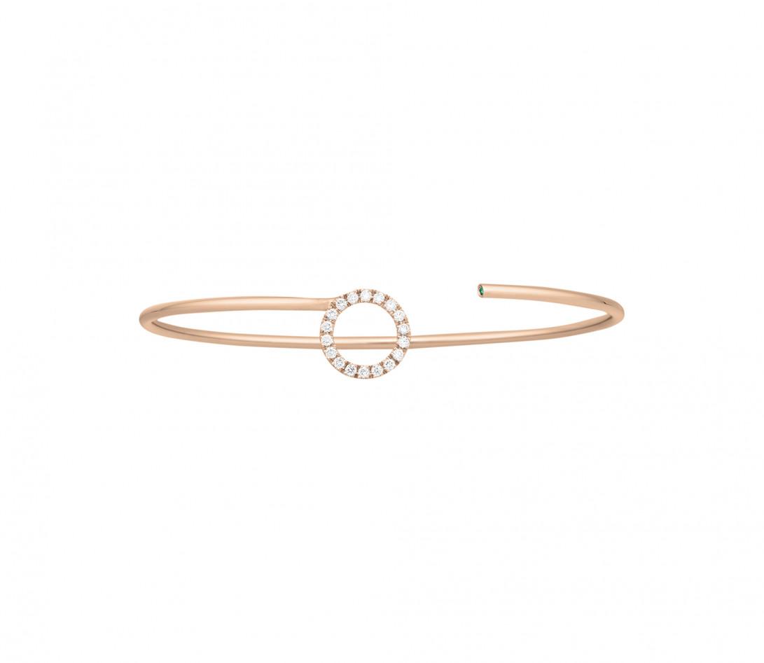 Bracelet O2 - Or rose 18K (4,00 g), diamants 0,18 cts - Face