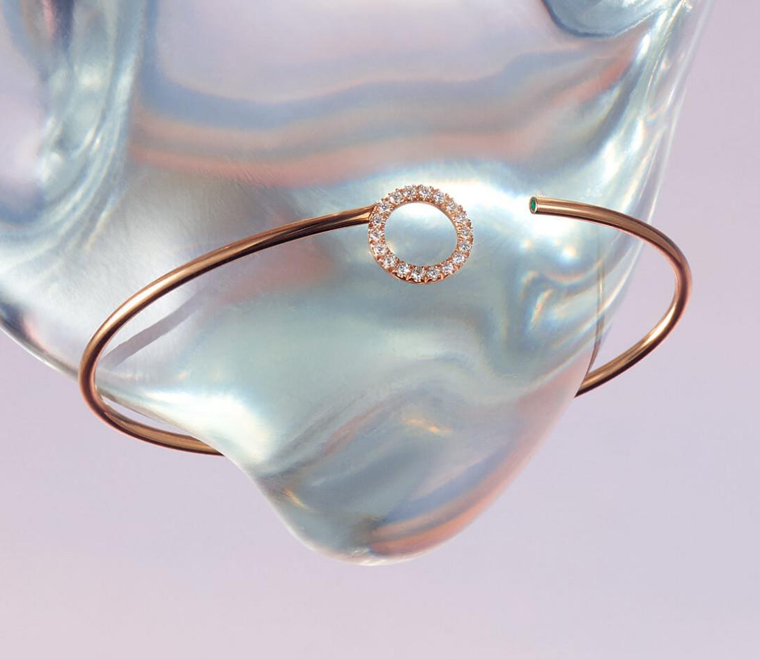 Bracelet O2 - Or rose 18K (4,00 g), diamants 0,18 cts - Vue 1