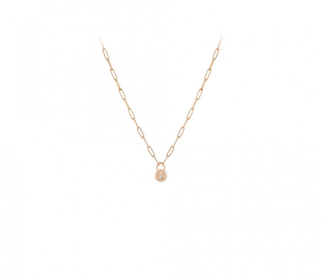 Collier Pont des Arts - Or rose 18K (5,80 g), diamant 1,34 ct - Vue 2