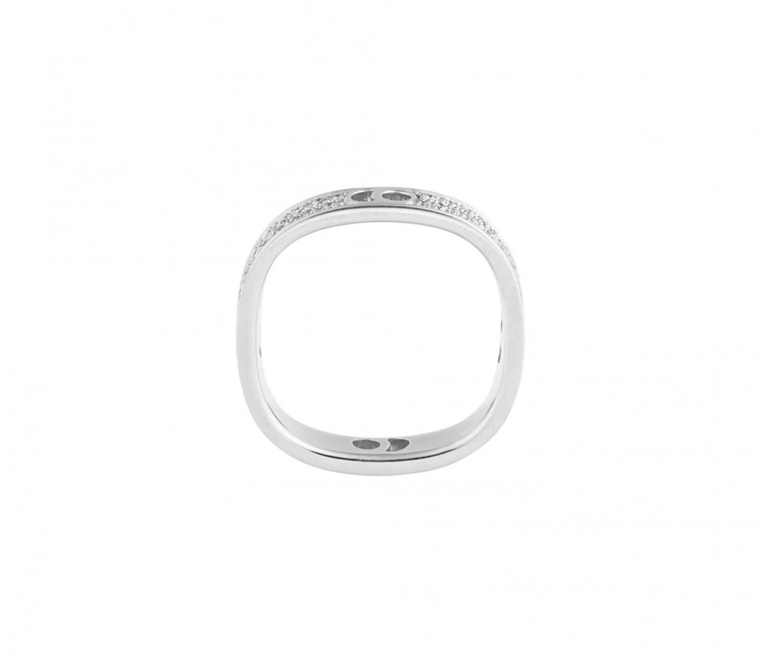 Bague Eclipse petit modèle - Or blanc 18K (4,20 g), diamants 0,55 ct - Vue 2