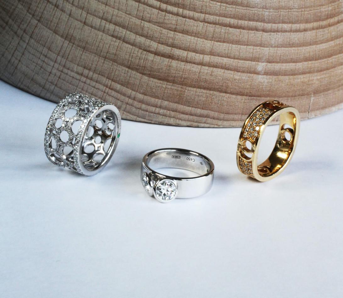 Bague 2 Courbet - Or blanc 18K (7,00g), 2 diamants 1ct - Vue 6