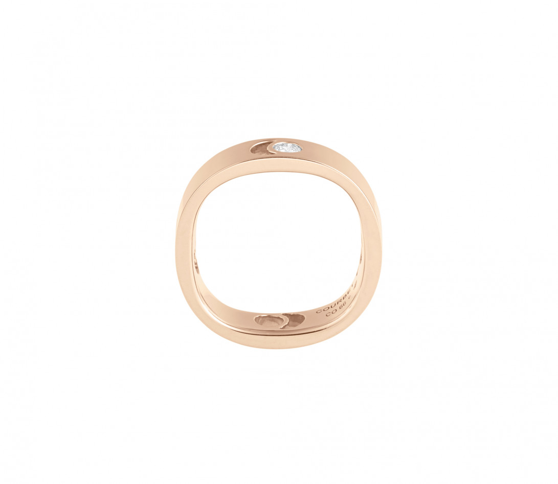 Bague Eclipse grand modèle - Or rose 18K (7,80 g), diamant 0,10 ct - Vue 2
